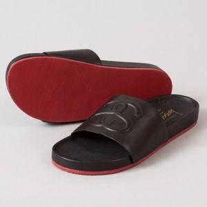 NEW Stussy X Solestruck Link Leather Slide Sandal